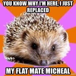 Homeschooled Hedgehog - You know why I'm here, I just replaced my flat mate Micheal