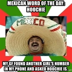 Sombrero Mexican - Mexican Word of the Day: hoochie My gf found another girl's number in my phone and asked hoochie is.