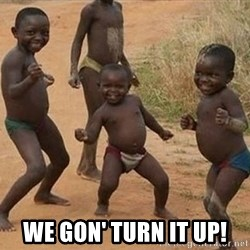 Happy african kids -  we gon' turn it up!