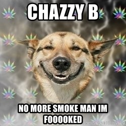 Stoner Dog - chazzy b no more smoke man im fooooked