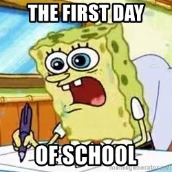 Spongebob What I Learned In Boating School Is - The First day of school