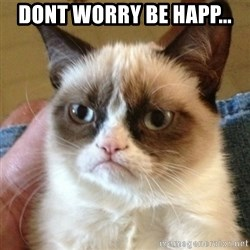not funny cat - dont worry be happ...