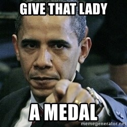 Pissed off Obama - Give that lady a medal