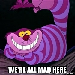 CHESHIRE CAT  -  we're all mad here
