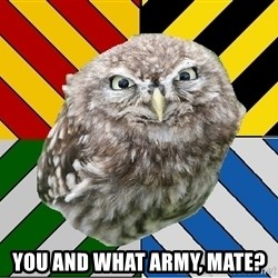 JEALOUS POTTEROMAN -  You and what army, mate?