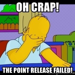 Homer Facepalm - Oh Crap! The point release failed!