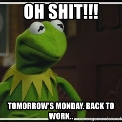 Kermit The Frog h - OH SHIT!!! TOMORROW'S MONDAY. BACK TO WORK..