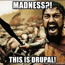 This Is Sparta Meme - Madness?! THIS IS DRUPAL!