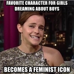 Emma Watson Trollface - favorite character for girls dreaming about boys becomes a feminist icon