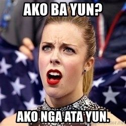 Ashley Wagner Shocker - Ako ba yun? Ako nga ata yun.