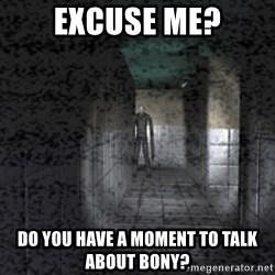 Slender game - Excuse me? Do you have a Moment to talk about Bony?