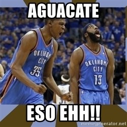 Durant & James Harden - AGUACATE ESO EHH!!