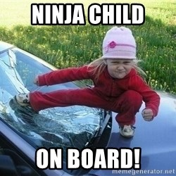 Angry Karate Girl - Ninja child On board!