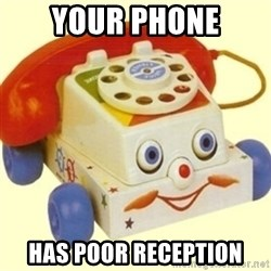 Sinister Phone - Your phone has poor reception