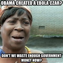 nobody got time fo dat - OBAMA CREATED A EBOLA CZAR? DON'T WE WASTE ENOUGH GOVERNMENT MONEY NOW?