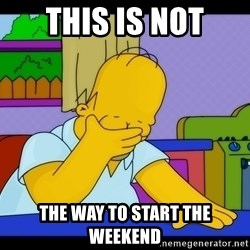 Homer Facepalm - This is not The way to start the weekend