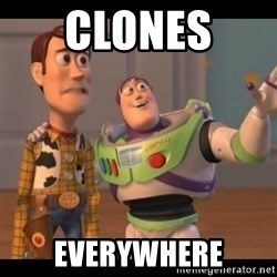 X, X Everywhere  - clones  everywhere
