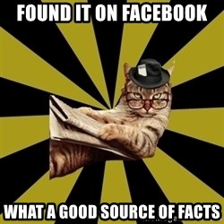 Frustrated Journalist Cat - found it on facebook what a good source of facts