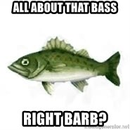 invadent sea bass - All About That Bass Right Barb?
