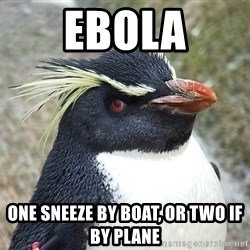 So What Penguin - EBOLA One sneeze by boat, or two if by plane