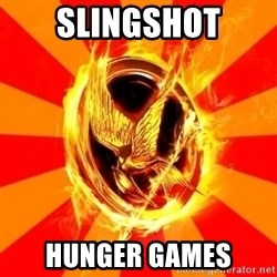Typical fan of the hunger games - Slingshot Hunger Games