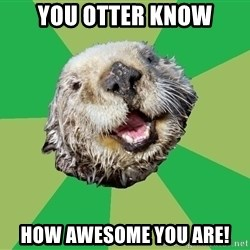 Ocd Otter - You otter know how awesome you are!
