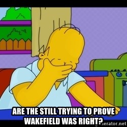 Homer Facepalm -  Are the still trying to prove Wakefield was right?