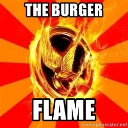 Typical fan of the hunger games - The burger flame