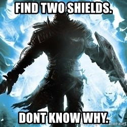 Dark Souls Dreamagus - Find two shields. Dont know why.
