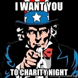 I Want You - I Want You To Charity Night
