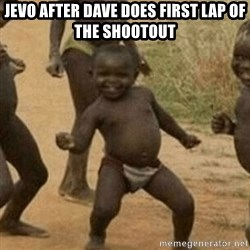Little Black Kid - Jevo after Dave does first lap of the shootout