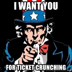 I Want You - I want you for ticket crunching