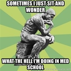Overly-Literal Thinker - sometimes I just sit and wonder what the hell I'm doing in med school