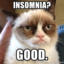 Mr angry cat - Insomnia? good.