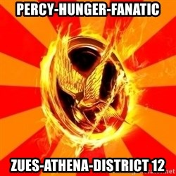 Typical fan of the hunger games - percy-hunger-fanatic zues-athena-district 12