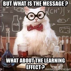 Science Cat - but what is the message ? what about the learning effect ?