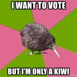 Choir Kiwi - I want to vote but I'm only a Kiwi