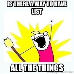 All the things - is there a way to have  list all the things