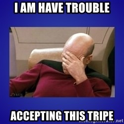 Picard facepalm  - I am have trouble accepting this tripe