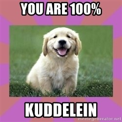 a level puppy - YOU ARE 100% KUDDELEIN
