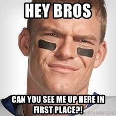 Thad Castle - Hey bros can you see me up here in first place?!