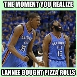 durant harden - the moment you realize Lannee bought pizza rolls