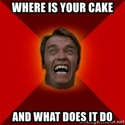Angry Arnold - where is your cake and what does it do