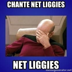 Picard facepalm  - Chante net liggies net liggies