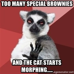 Chill Out Lemur - Too many special brownies  And the cat starts morphing.....