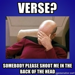 Picard facepalm  - Verse? Somebody Please Shoot Me in The Back of The Head
