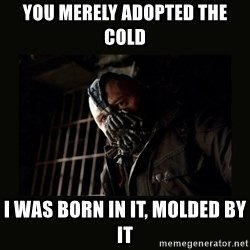 Bane Dark Knight - YOU MERELY ADOPTED THE COLD I WAS BORN IN IT, MOLDED BY IT
