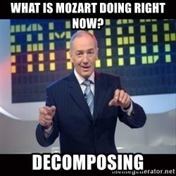 Karol Strasburger - What is Mozart doing right now?  Decomposing