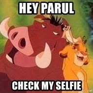 Timon and Pumba - Hey Parul check my selfie