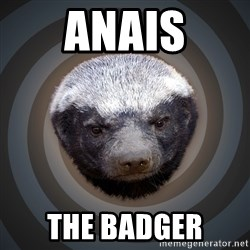 Fearless Honeybadger - Anais The badger